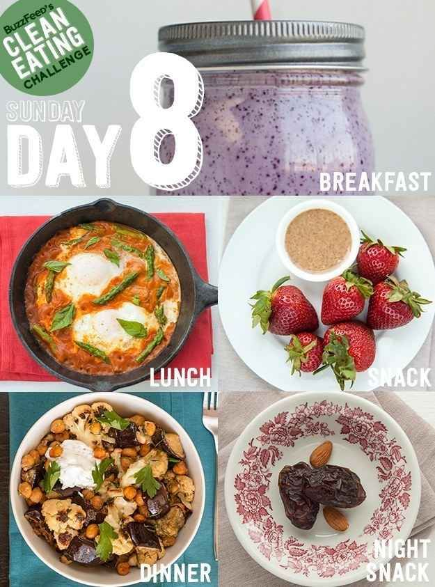DAY 9 - Take BuzzFeed's Clean Eating Challenge, Feel Like A Champion At Life