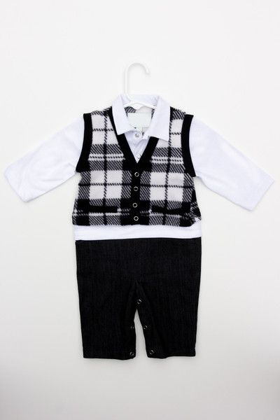Step (or crawl) out in style with this formal look baby onesie.