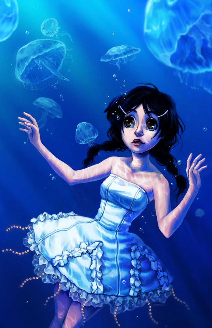 If I'm ever reincarnated, I don't want to be human.    But not a cat or dog either. Because there are cute ones and not-cute ones.    If I'm reincarnated, I want to be a jellyfish.     A jellyfish just rocking gently on the waves.    -Tsukimi, Princess Jellyfish