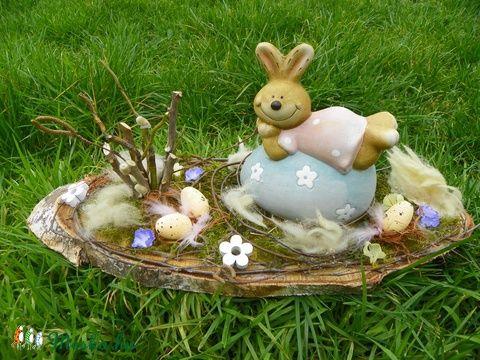 Nyuszis-tojásos húsvéti-egyedi asztaldísz (galamb70) - Meska.hu