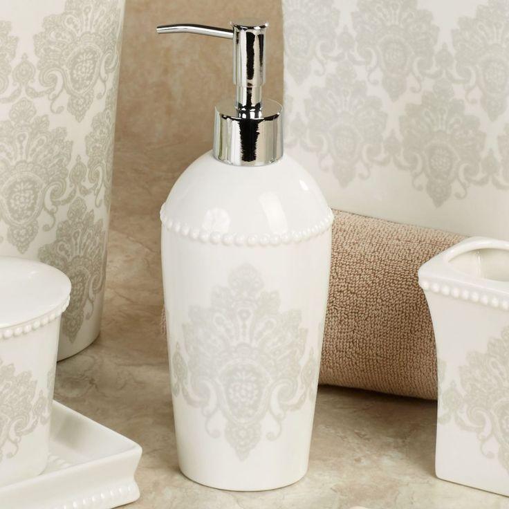 Black White Damask Bathroom Accessories