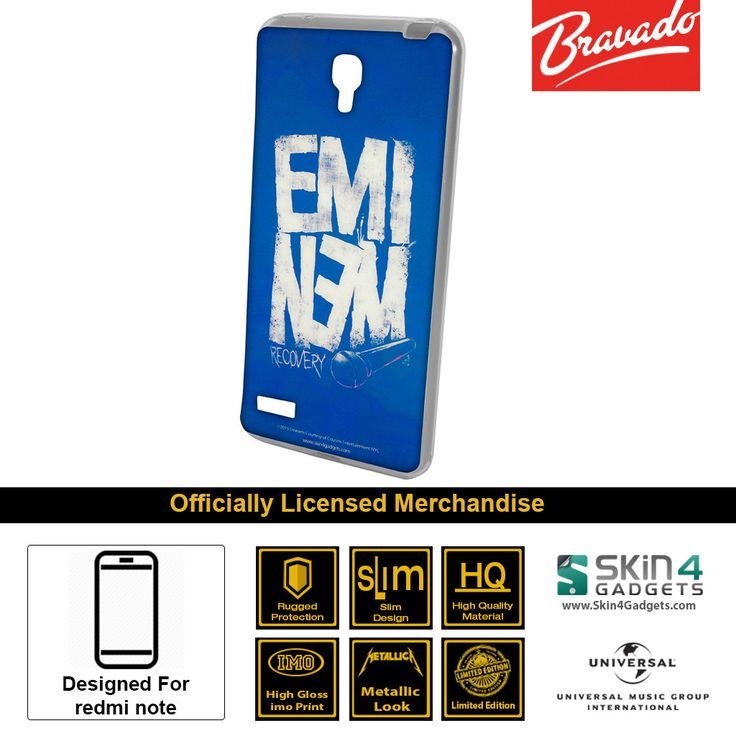 Buy Eminem Recovery Mobile Cover & Phone Case For Xiaomi Redmi Note at lowest price online in India only at Skin4Gadgets. CASH ON DELIVERY AVAILABLE