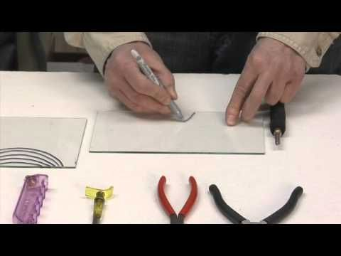 Learn to cut glass into shapes. Good tutorial for cutting curves!