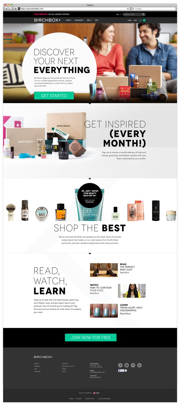 Birchbox by RED ANTLER , via Behance