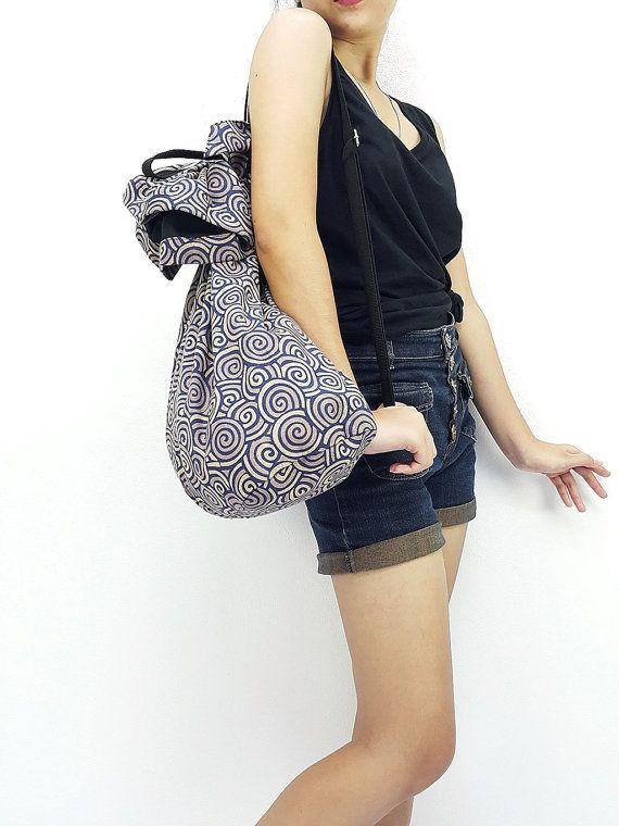 Cotton Bag Single Strap Backpack Hippie Hobo #bagsandpurses @EtsyMktgTool http://etsy.me/2yhCVlT