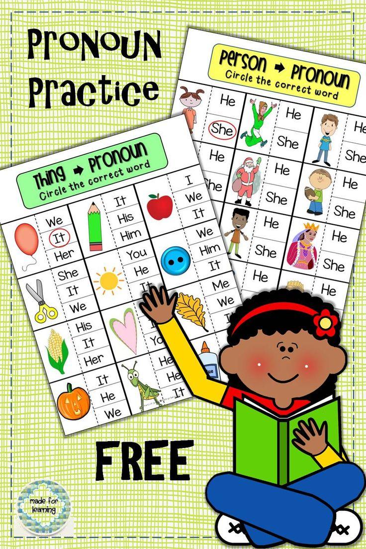 17 Best ideas about Pronoun Activities on Pinterest  Teaching  education, multiplication, alphabet worksheets, and grade worksheets Noun And Pronoun Worksheets For Middle School 1104 x 736
