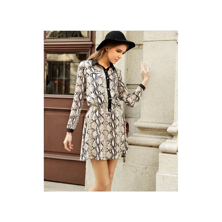 Snake Skin Mini Dress MD640 Model  74617 Condition  New   Material - Chiffon Bust - 92cm Sleeve - 58cm Waist - 56-94cm Length - 87cm 210grams   retail IDR173,250	reseller IDR129,938	wholesaller IDR112,613
