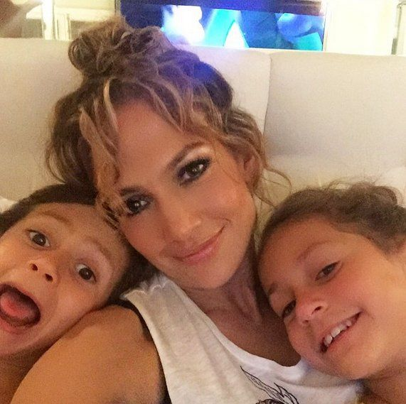 "Pin for Later: The Cutest Pictures of Jennifer Lopez and Her Adorable Kids  ""HAPPY MOTHERS DAY TO ALL THE AMAZING MOMS OUT THERE!! #love #familia"""