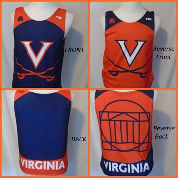 UVA Virginia Basketball Practice Used Jersey Cavaliers Wahoos Rare Reversible