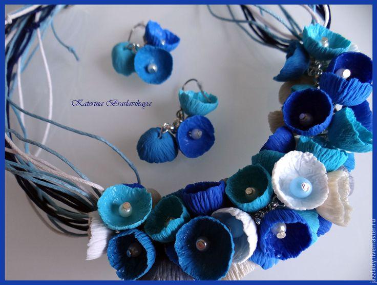 """Купить """"Подарю тебе букет полевых цветов"""" комплект из полимерной глины - комбинированный, синий, бирюзовый"""