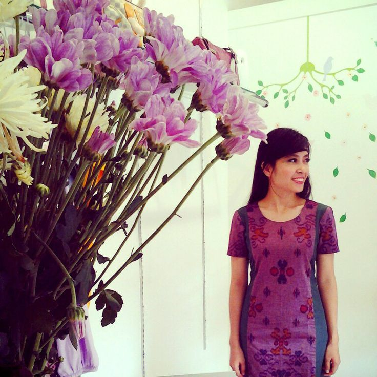 The purple of love |dress|ethnic|central java|troso|tenun|wovencloth|handmade|limited|
