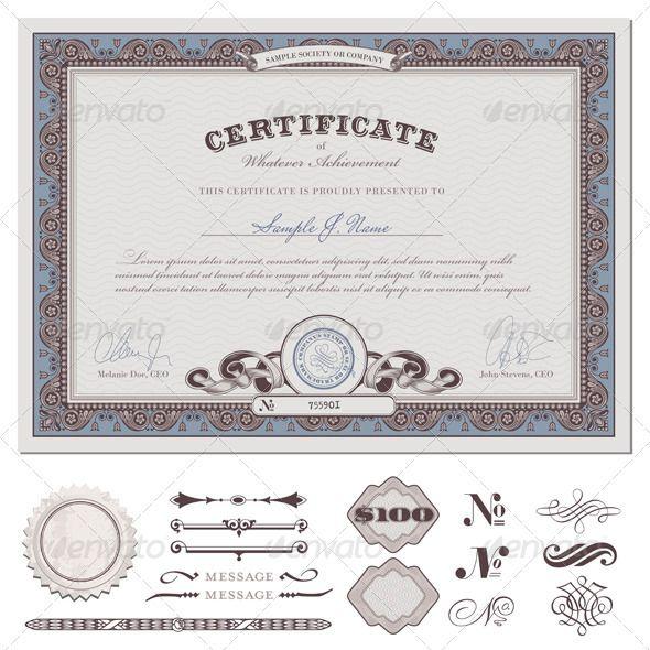Certificate Template (1) - Backgrounds Decorative