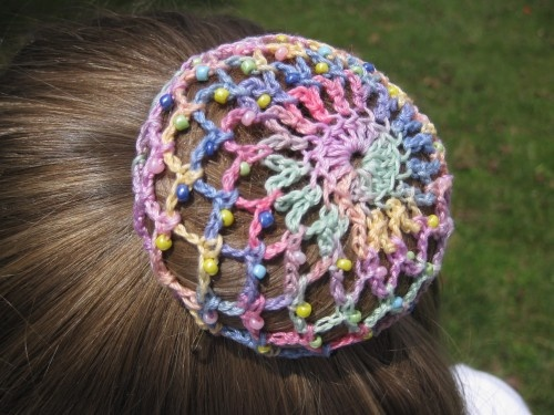 Ravelry Ballet Lace Crochet Hair Accessory Bun Cover Pattern By