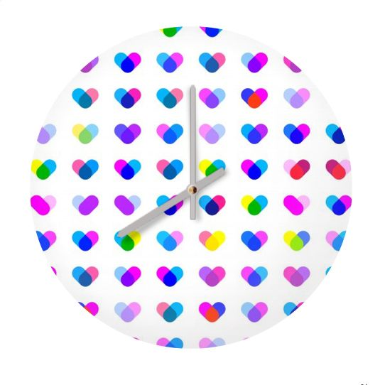 Multi Hearts clock  #fimbis #ArtRookie #clock #time #hearts #style #styleblog #fashion #fashionblogger #fashionblog #styleblogger #valentines #valentinesday #home #homestyle #interiors #pastel #ukdesign #irishdesign #irishart #fblogger #homedecor #purple #pink #dormlife #babyblue