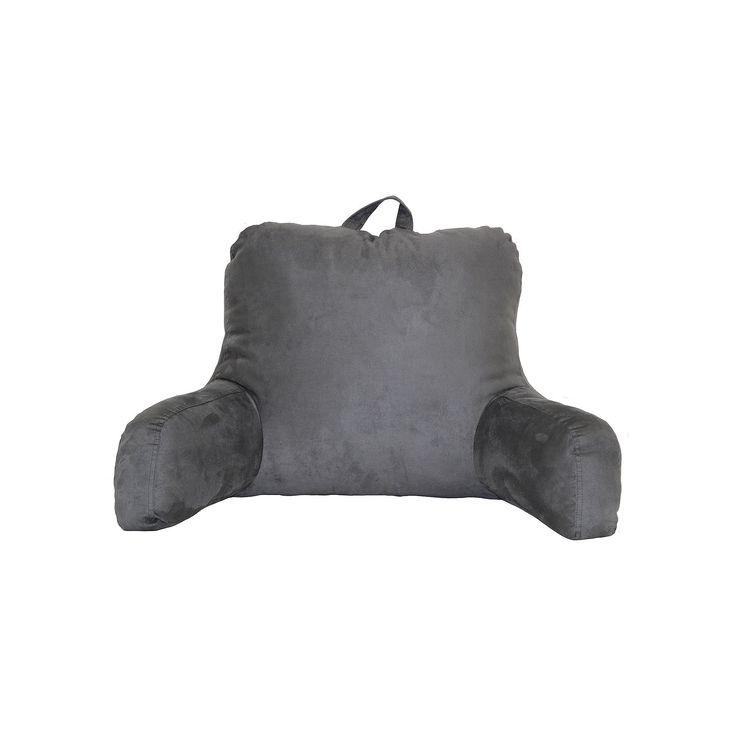 Faux Suede Backrest Pillow, Grey
