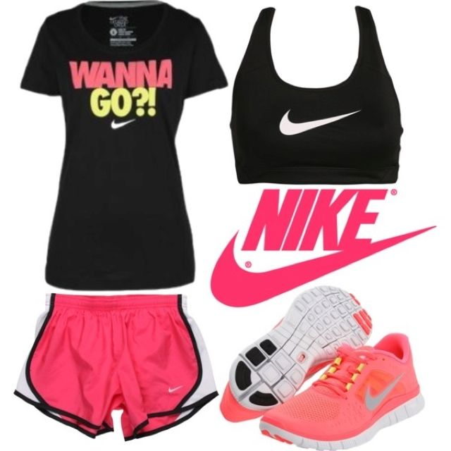I want all the nike stuff. Super cute and like how it all goes together. except the shoes ( ew) # NIke ~oogz ~