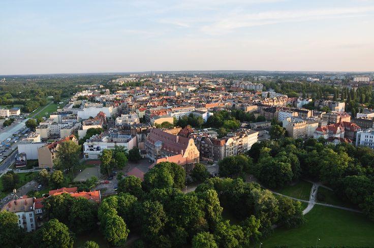 Poznan Poland, panorama miasta, widok z wieżowca Andersia Tower [mat.Miasto Poznań]