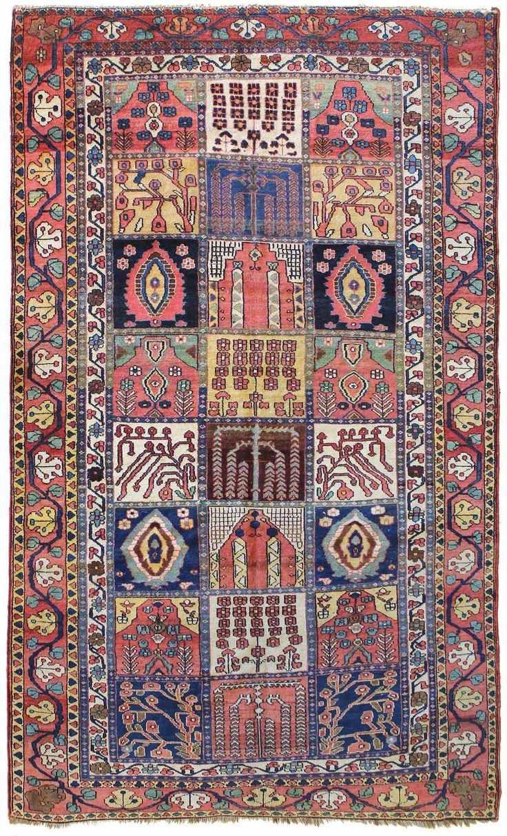 Antique bakhtiari rug persia