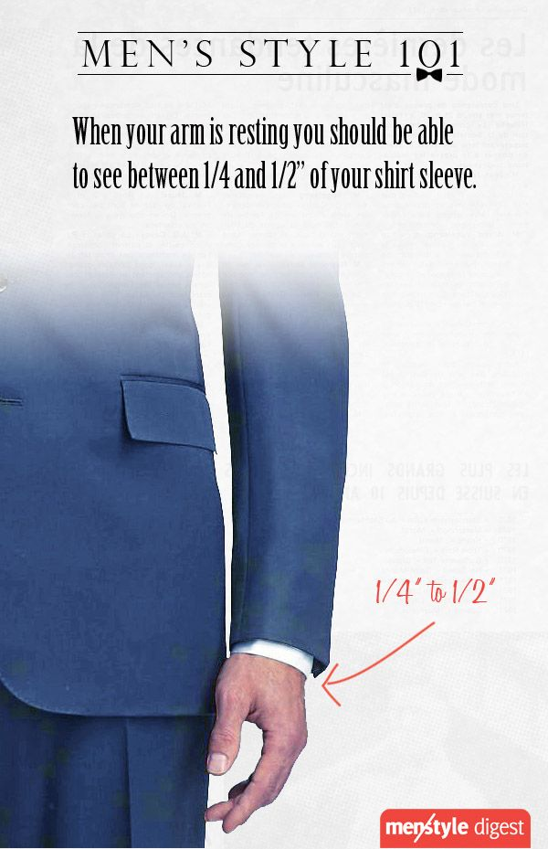 How much shirt's sleeve should be seen?