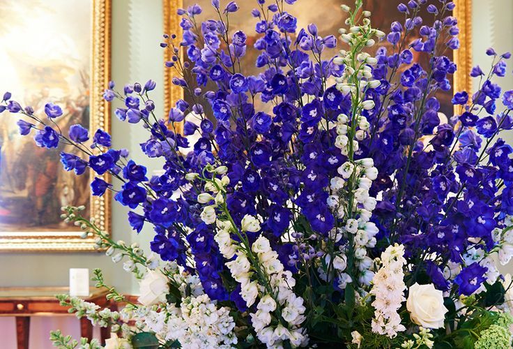 A floral display for an event at Spencer House, London.