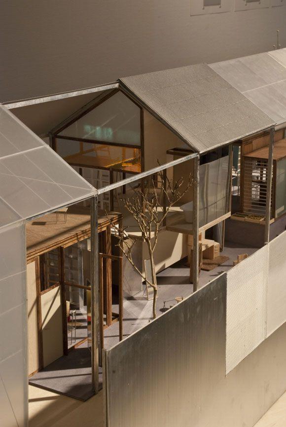 #architectural_model 長廊與屋頂設計