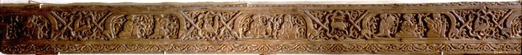 Fatimid wooden plank with carved dancer, 11th century Wood plank with daily life scenes in the Fatimid court. Detail showing musician and dancer. Originally used as decoration on the walls of the Western Fatimid palace such planks were re-used in the Mamluk period to cover the walls of the Mausoleum of Sultan Qalawin but installed reversed as fitting for a religious building. Country of Origin: Egypt Culture: Islamic. Date/Period: Fatimid, 11th C AD. Place of Origin: Cairo. Credit Line…