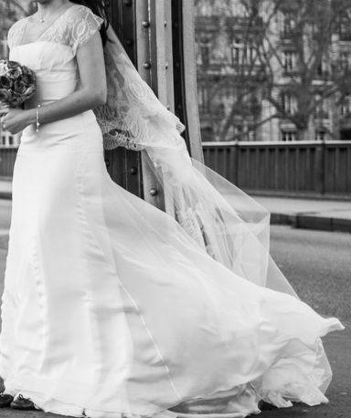 Je vends ma robe de mariée Jesus Peiro de chez Nuit Blanche à Paris.  Taille 36  je mesure 168cm