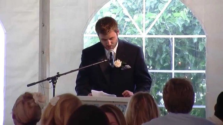 Brother Wedding Speech Kills Crowd.....Aaron delivers a funny wedding speech for his brother. ‪#‎hilarious‬