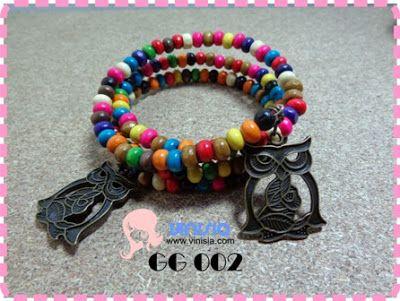 Belanja Aksesoris Wanita Online: [GG 002] Gelang tumpuk mixed burung hantu   085649002325 / 326DB34B  www.vinisia.com