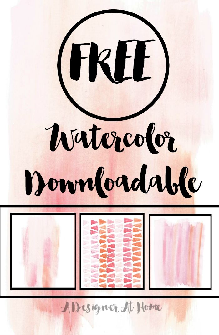 gotta save this for later! free watercolor downloadable I can def use this