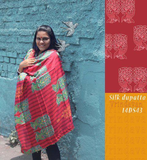 14DS43_silk dupatta