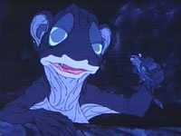 Rankin/Bass Cartoon Hobbit-Gollum.  My precious sleep wasn't the same for a few weeks after this doozy.