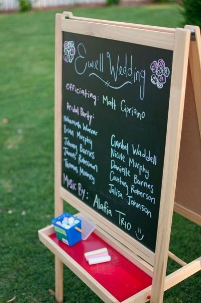 ikea easel for wedding party and/or seating chart