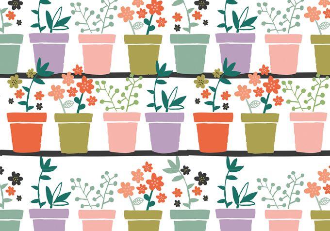 Plants - surface pattern design by Tjarda Borsboom - zwiep.nu