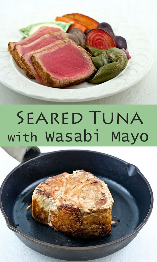 with wasabi mayo recipe yummly seared tuna peppered tuna skewers ...