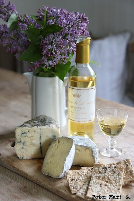 Sauternes - a sweet wine excellent paired with Roquefort, Bleu d'Auvergne or Livarot