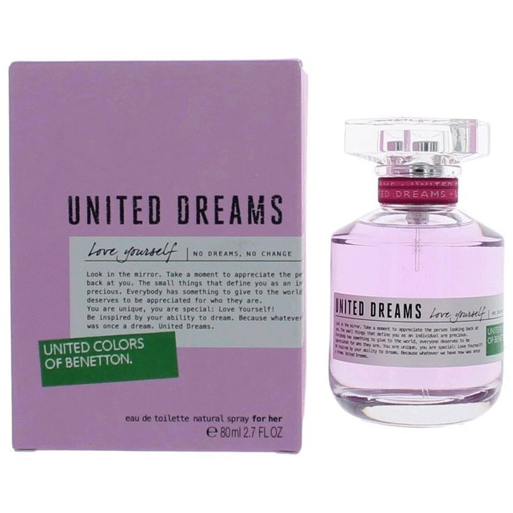 Benetton United Dreams Love Yourself Perfume 2.7 oz EDT Spray Women NEW IN BOX #Benetton