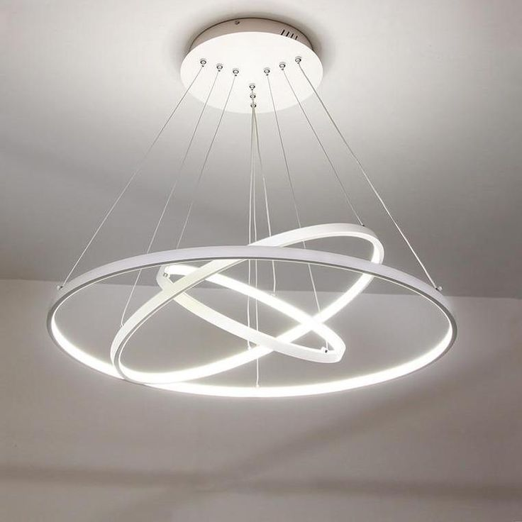 Modern LED Chandelier Circle Rings Pendant Lamp Aluminum Body Hanging Lamp