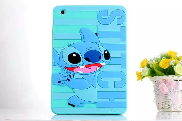 3D Cute cartoon Letter Mickey Pooh Stitch Mike Minnie Sulley soft silicone case cover for ipad mini 2 3 new mini + screen film