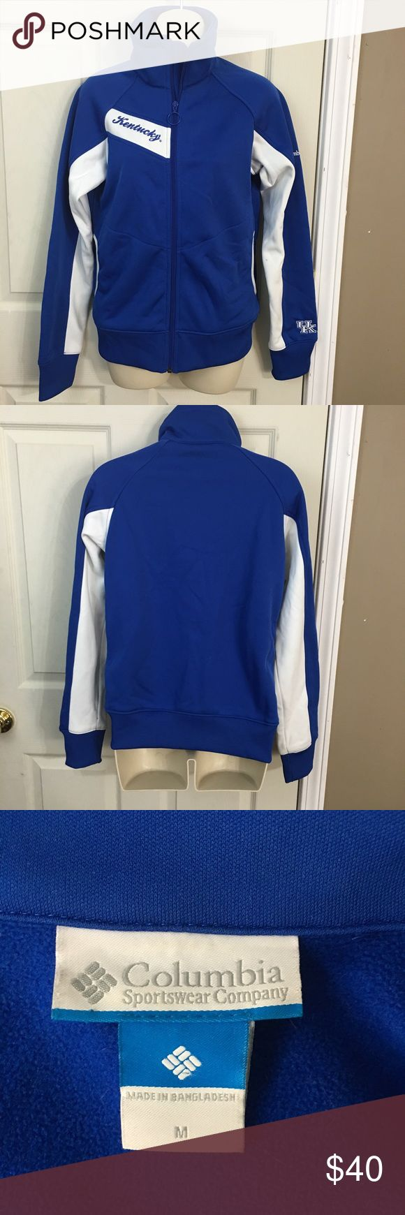Columbia Sportswear UK Wildcats Jacket Size M This is a women's Columbia Sportswear University Of Kentucky Wildcats jacket size Medium. This jacket is in excellent gently used condition. It does have one very small spot on the left arm that should be able to be cleaned off. Please take a look at all photos for condition and if you have any questions feel free to ask. Columbia Jackets & Coats Utility Jackets