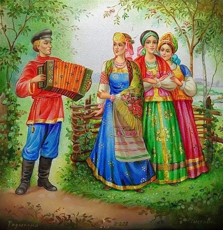 Анимация картинки русская народная