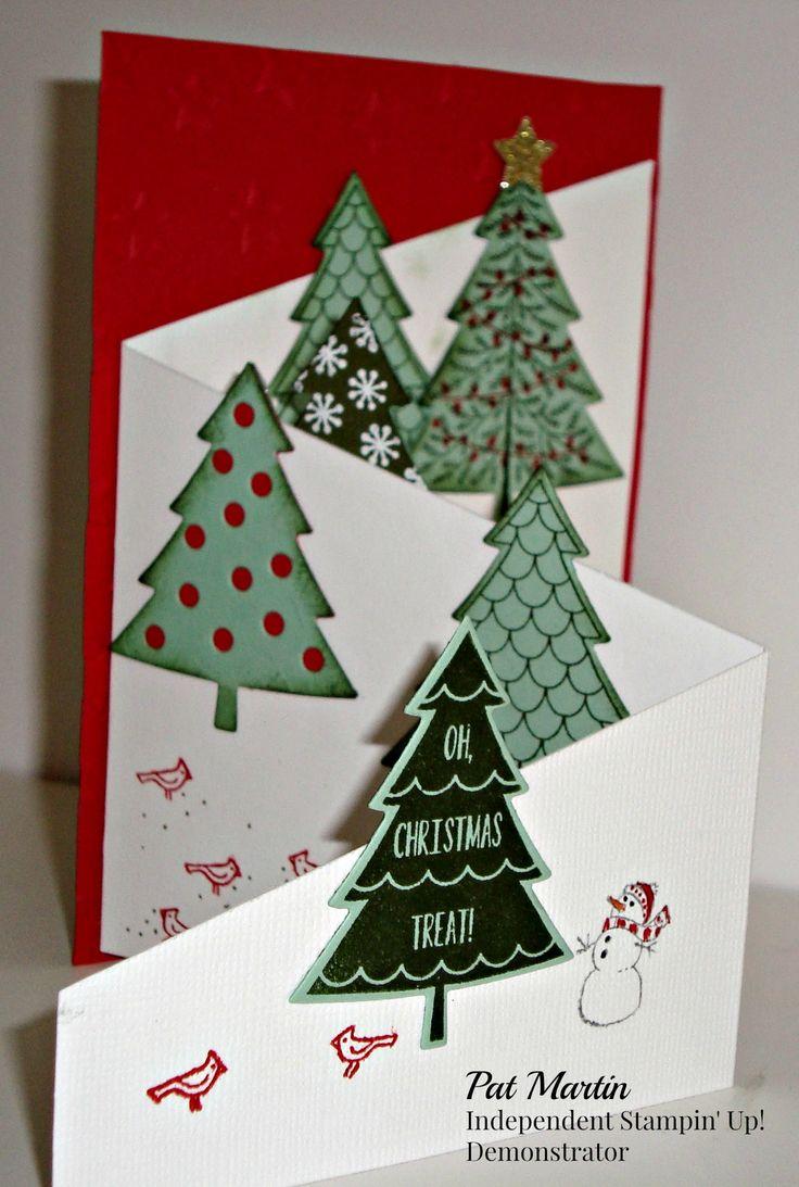 handmade Christmas card cascade card format