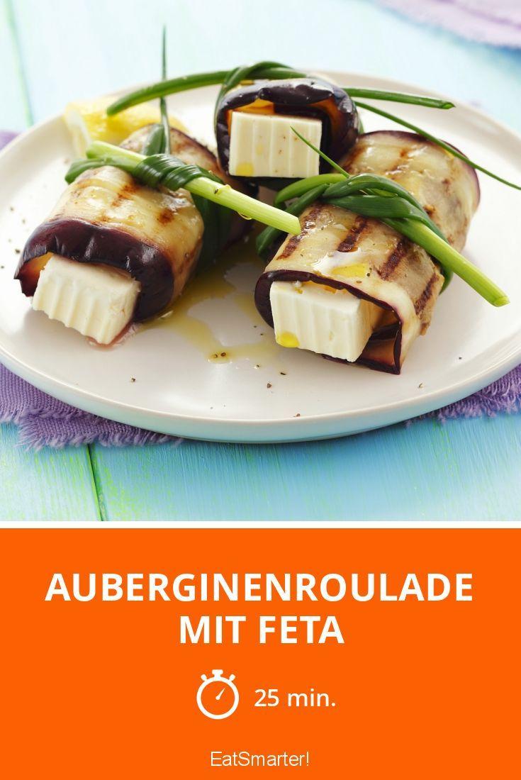 Rouladen mal anders: ohne Fleisch und gefüllt mit Feta! Vegetarisch und Low Carb
