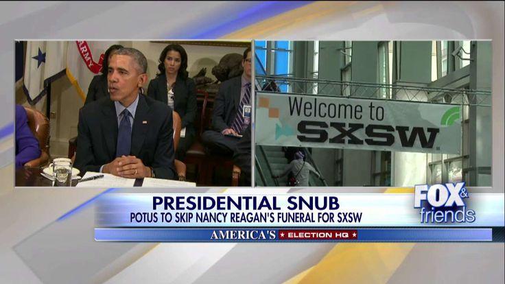 Obama Skipping Nancy Reagan's Funeral to Speak at SXSW Festival