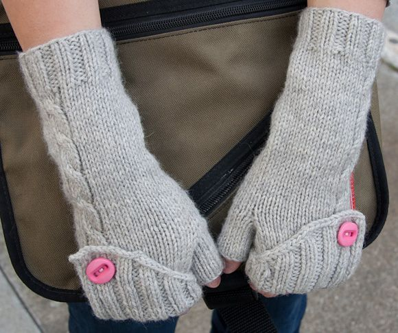 finger-less gloves... oh how I wish I could knit. I made mine by cutting the sleeves off a thrifted sweater.
