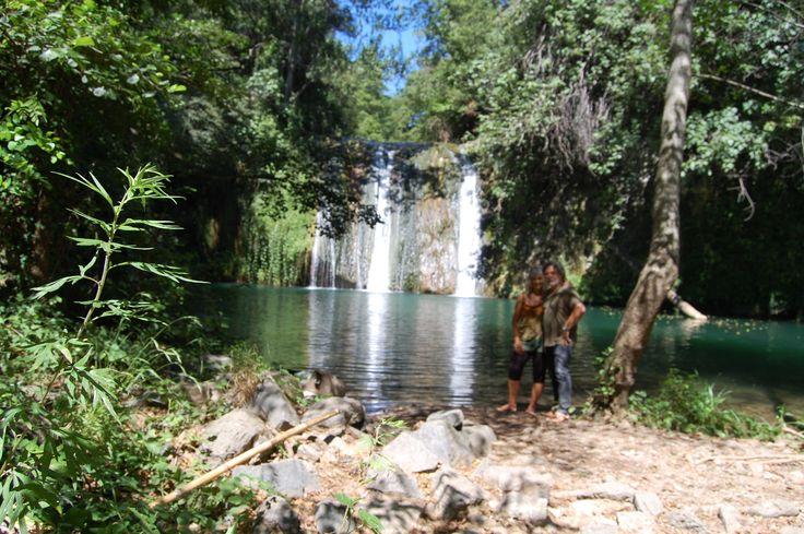 Salto de agua cerca de las Planas d'Hostoles.