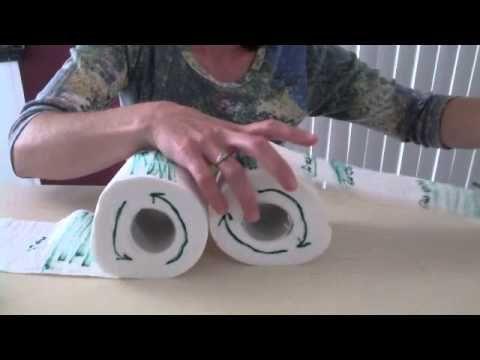 Sea Floor Spreading model using toilet paper rolls.