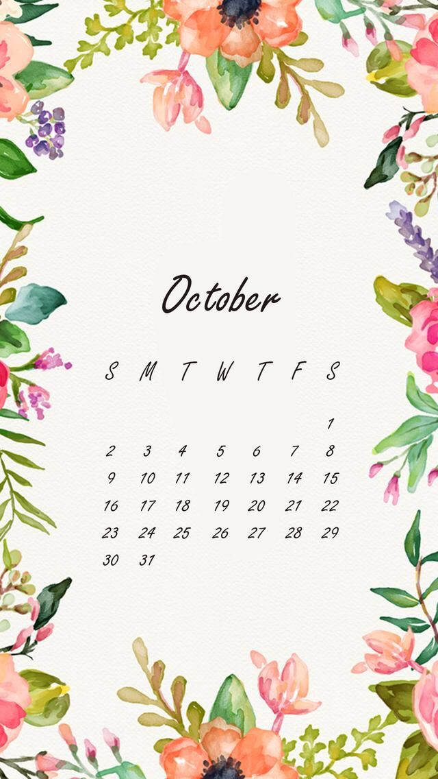Wallpaper iPhone October 2016 calendar                                                                                                                                                                                 More