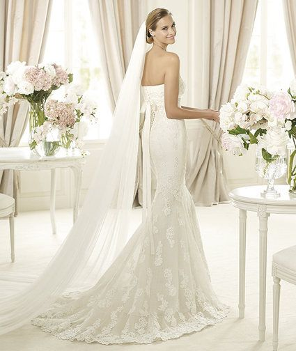 Location robe de mariee Pronovias Balira 2013 en blanc naturel