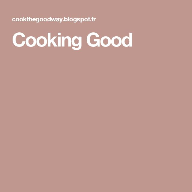 Cooking Good
